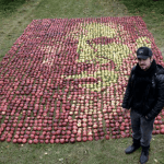 Steve Jobs Portrait Made of Apples