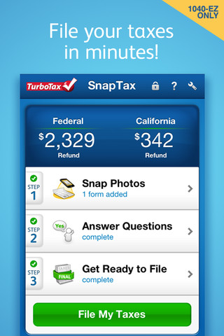 TurboTax SnapTax – Complete and efile simple taxes iPhone
