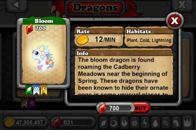 DragonVale BLOOM Dragon