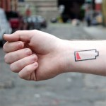 Low Battery Tattoos