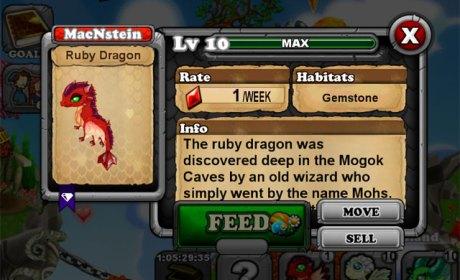 DragonVale RUBY Dragon