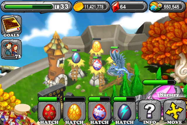 DragonVale GOLD Dragon Egg