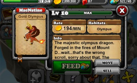 DragonVale OLYMPIC GOLD Dragon