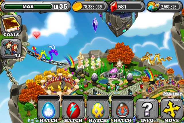 DragonVale Blue Moon Dragon Egg