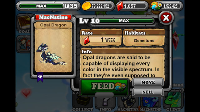 DragonVale: How to breed an Opal Dragon