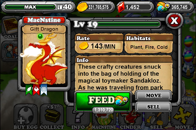 Dragonvale Gift Dragon