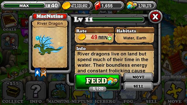 Dragonvale River Dragon