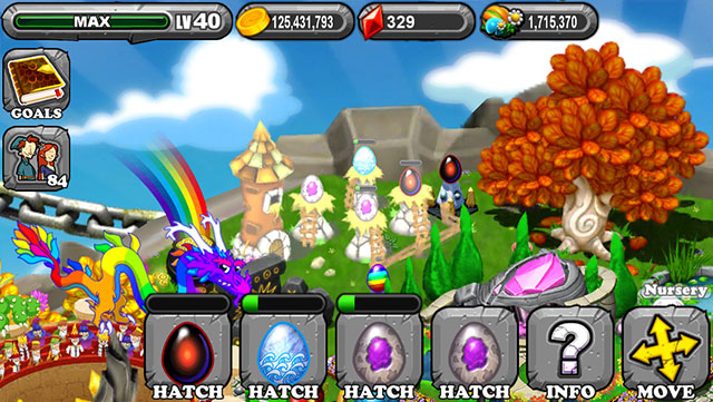 Dragonvale Aquarmarine Dragon Egg