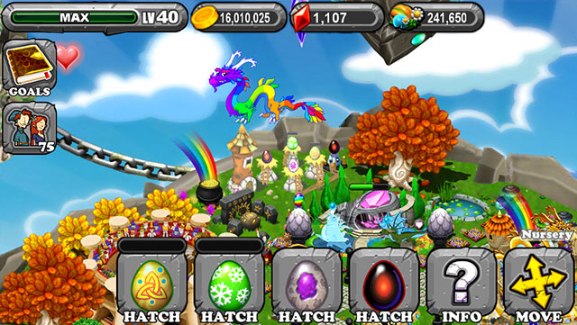 The 1st Egg is the Dragonvale Celtic Dragon Egg