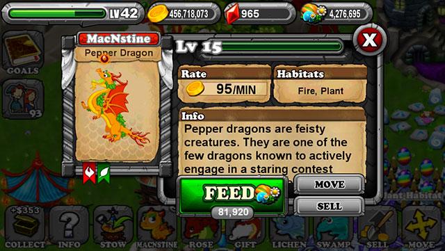 DragonVale Pepper Dragon