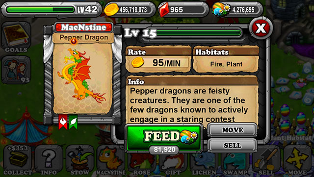 DragonVale Pepper Dragon