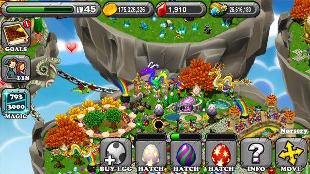 The 1st egg is the DragonVale Light Dragon Egg