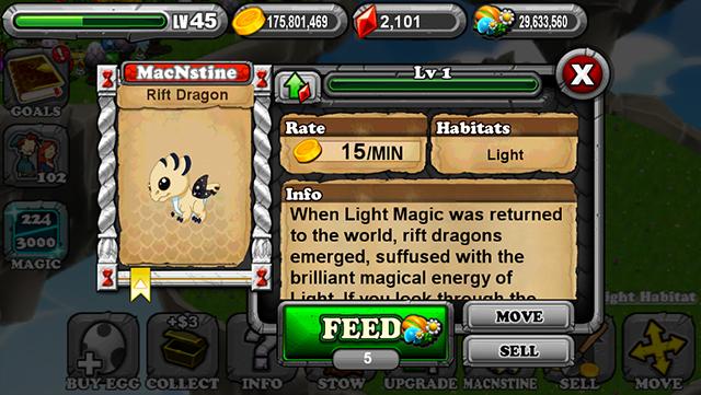 DragonVale Rift Dragon