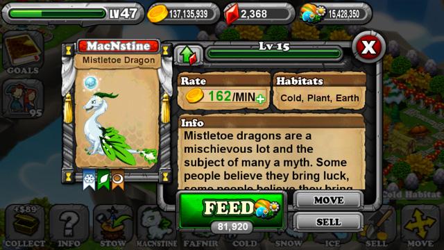 DragonVale Mistletoe Dragon