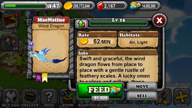 DragonVale Wind Dragon