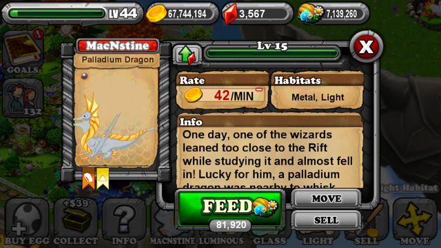 Dragonvale Palladium Dragon