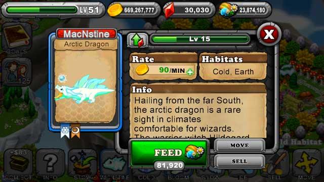 Dragonvale Arctic Dragon