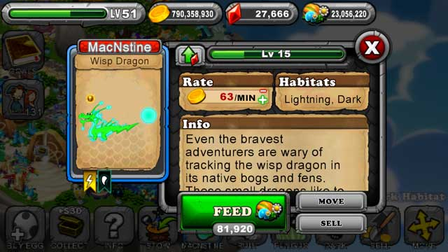 Dragonvale Wisp Dragon