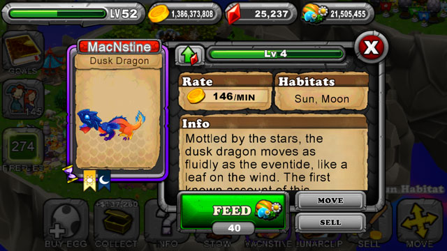 DragonVale Dusk Dragon 2