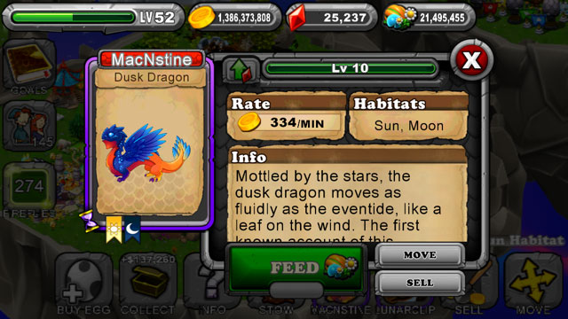 DragonVale Dusk Dragon 3