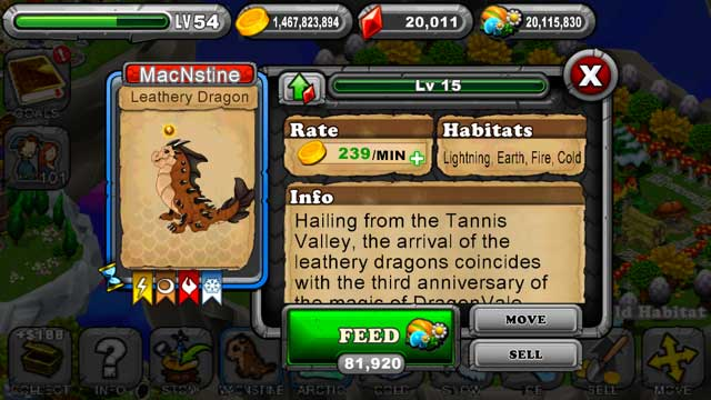 DragonVale Leathery Dragon