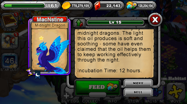 DragonVale Midnight Dragon