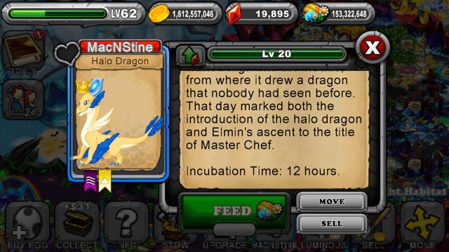 Dragonvale Halo Dragon