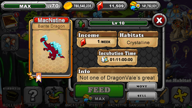 Dragonvale Brite Dragon