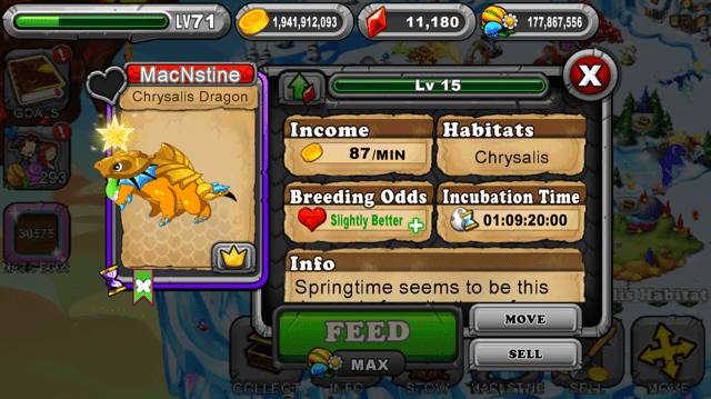 Dragonvale Chrysalis Dragon