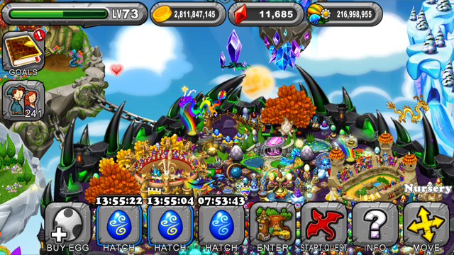 Dragonvale Vortex Dragon Egg