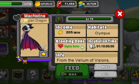 Dragonvale Stygian Dragon