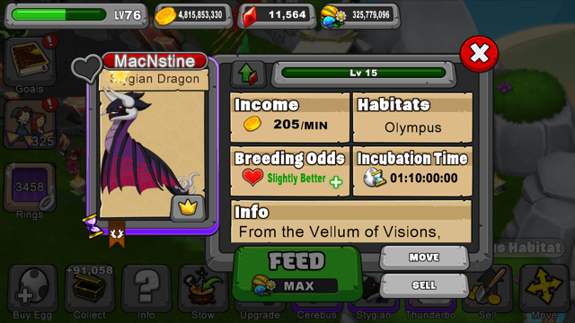 Dragonvale Stygian Dragon