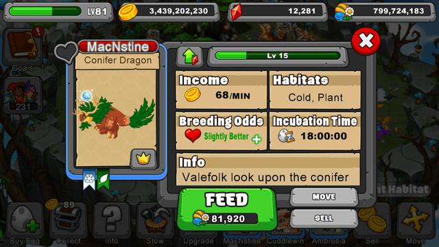 Dragonvale Conifer Dragon