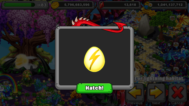 Dragonvale Shining dragon Egg