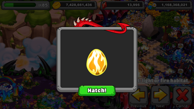 Dragonvale Infrared Dragon Egg