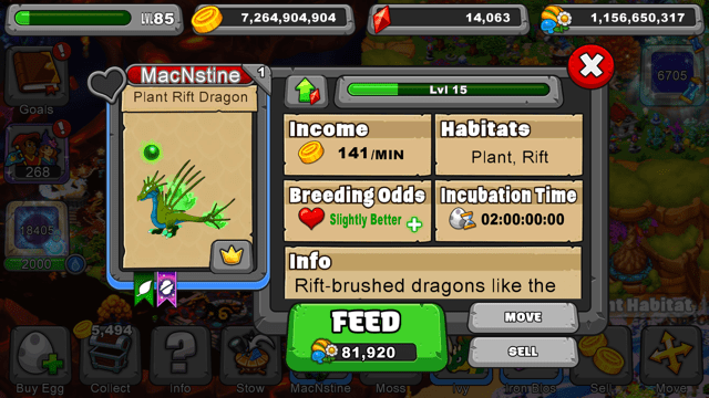Dragonvale Plant rift Dragon