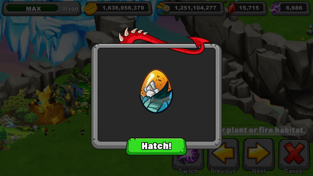 Dragonvale Bounteous Dragon Egg