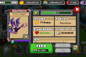 Dragonvale Party Dragon