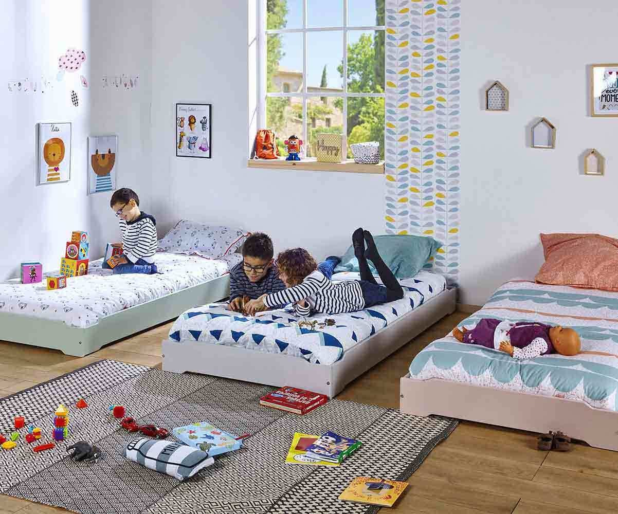 Lit Palette Enfant Pack Lit Enfant Empilable Happy Mobilier En Pin Massif Made In France