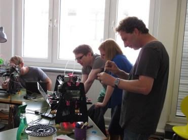 3D printer wie der orcabot beim Workshop in Level 2