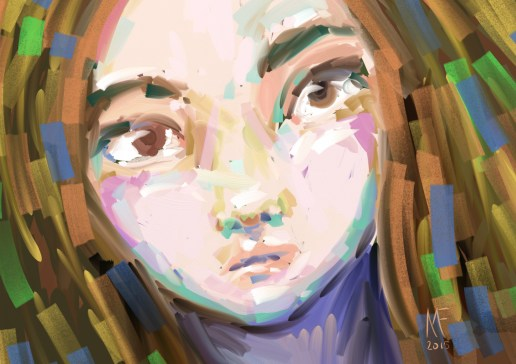 Painting in Artrage on the Surface Pro 2.