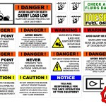 Skid loader Safety and Warning decal kit