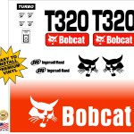Bobcat T320 replacement decal kit