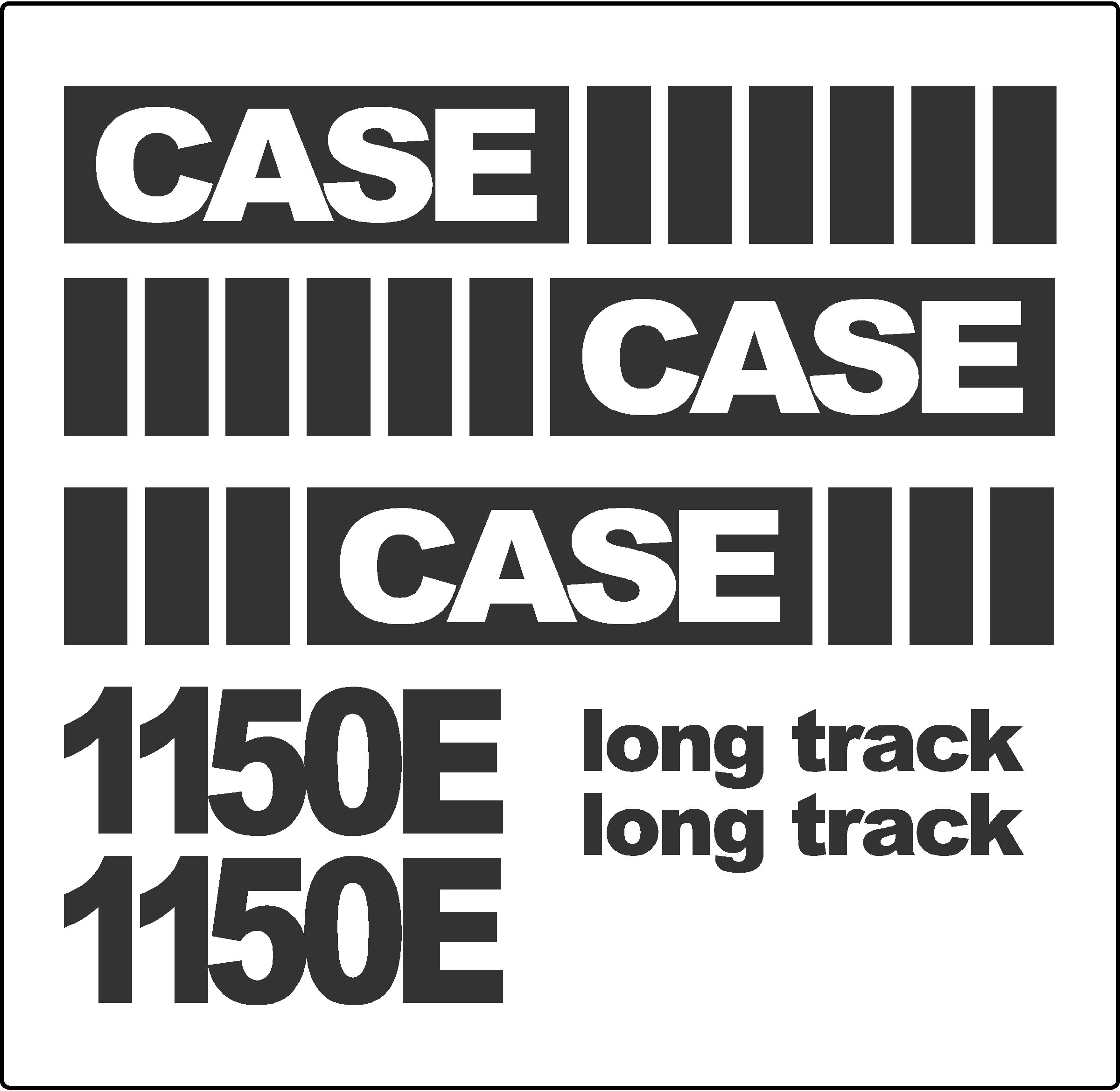 7250 Case Decal Kits : Case e dozer new replacement decal kit