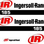 Ingersoll Rand 185 air compressor decal kit