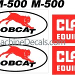 Bobcat Clark M500 replacement decal set