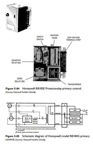 honeywell r8184g wiring diagram