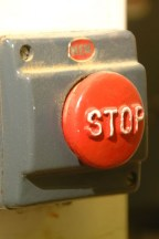 Old, non-compliant, E-Stop Button