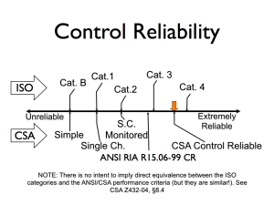 Comparing ANSI, CSA, and ISO Control Reliability Categories