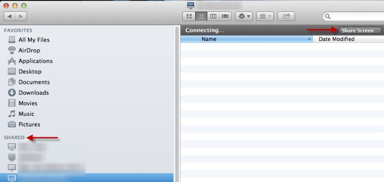 share screen on mac - finder